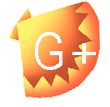 an image of bright orange with the letter g+ for google+