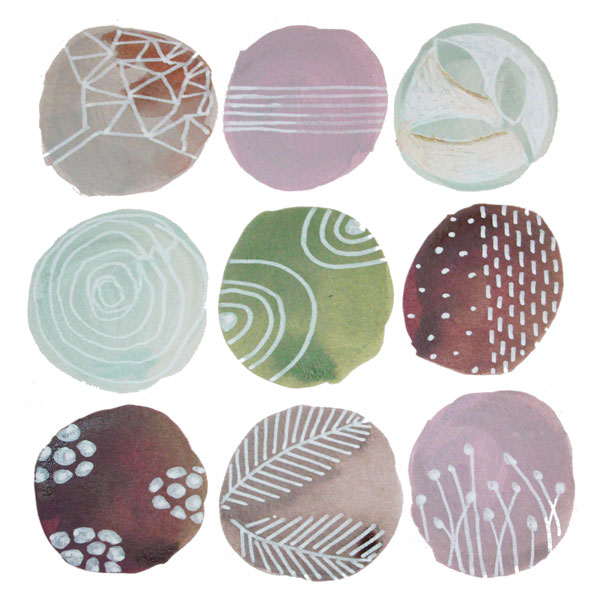 an example of the abstract watercolour patterns that you can make
